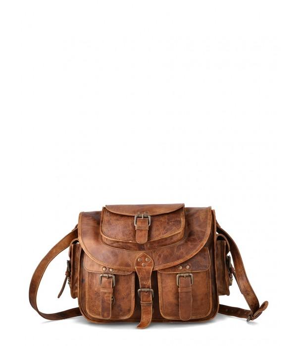 Babylon Vintage Leather Satchel Messenger Bag