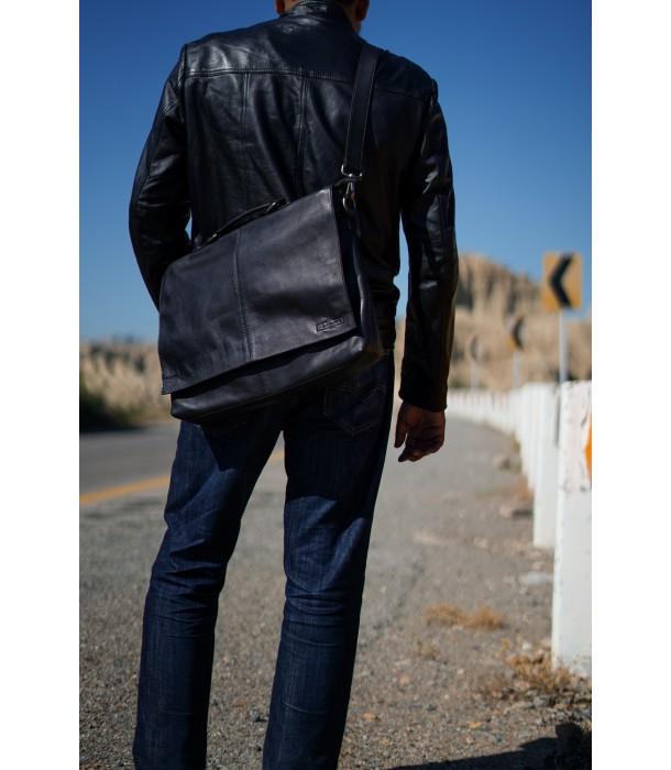 Barristo Slim Leather Briefcase