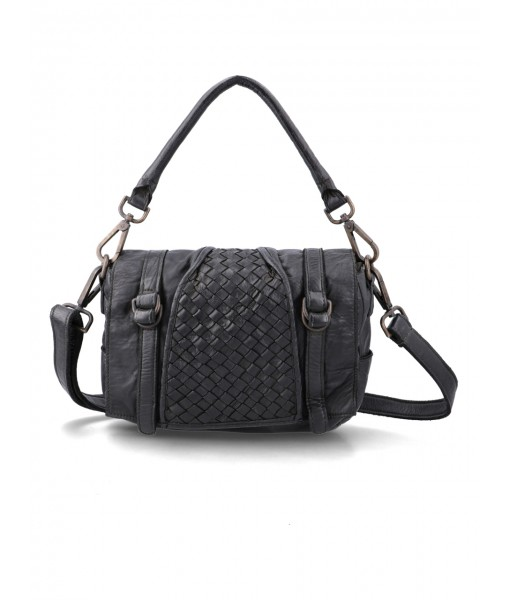 Brianna Black Leather Handbag