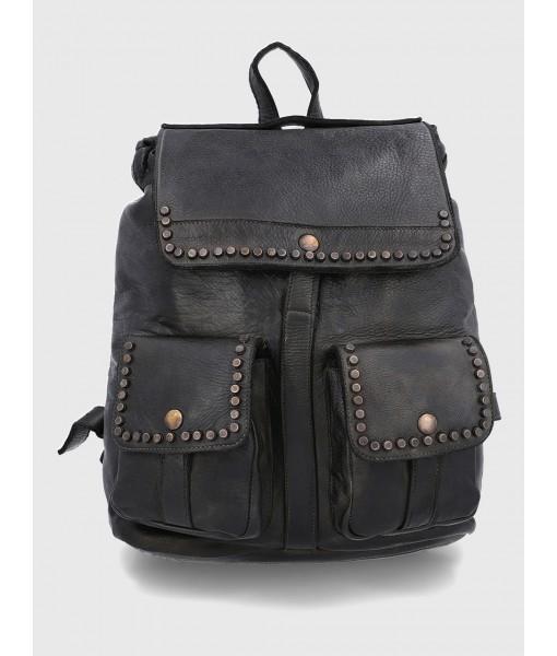 Clara Black Mini Backpack