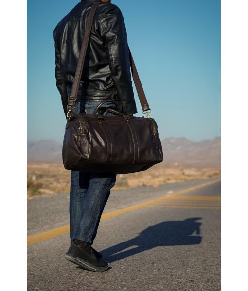 Coleman Weekender Leather Duffle Bag