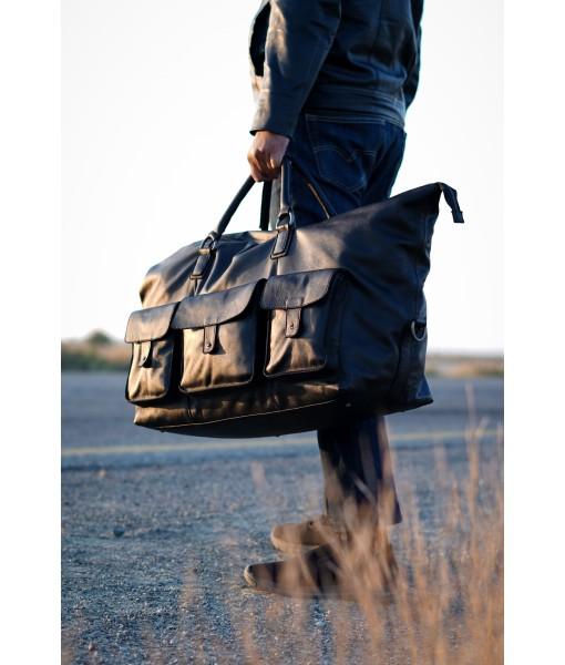 Hooper Leather Weekender Travel Bag