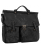 Mayor Black Leather Briefcase