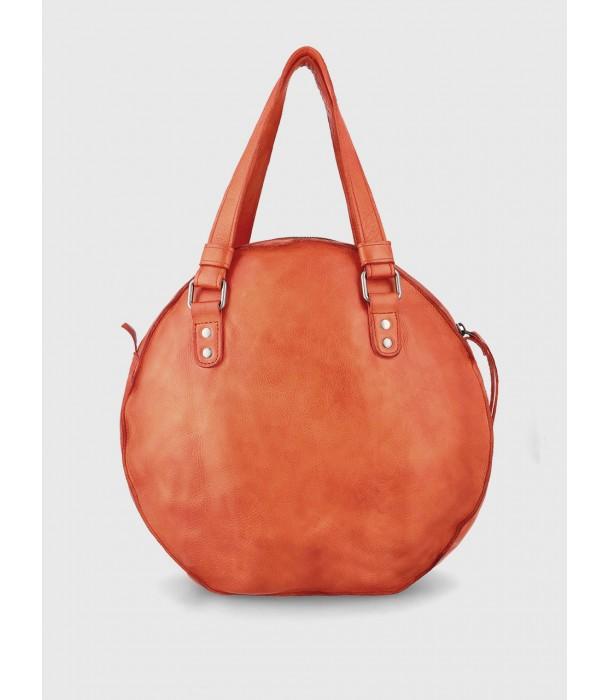 Tracy Round Leather Handbag